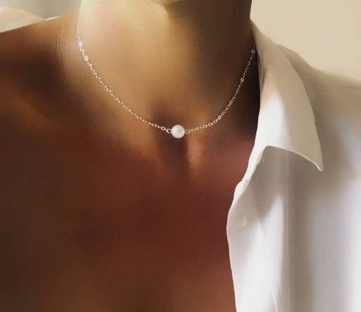 Collier ras de cou perle